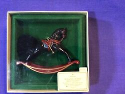 Hallmark Rocking Horse 1982 2nd In Series Vintage Acrylic Christmas Ornament
