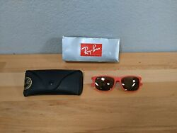 Ray Ban RB4202 Sunglasses Andy Red Gold Mirror Lens