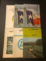 Lot Of 6 Vintage Madisonville Texas Telephone Books Yellow Pages 1966 -1972