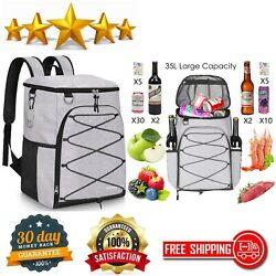 Insulated Beach Cooler Backpack 45 Cans Leakproof Soft Cooler Bag Large Capacity $49.93