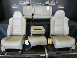 2008 F450 Crew Cab Lariat Set Of Front Power Leather Back Seat And Console Tan 8s