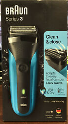 Braun Series 3 310s Wetamp;Dry Cordless Rechargeable Men#x27;s Electric Shaver