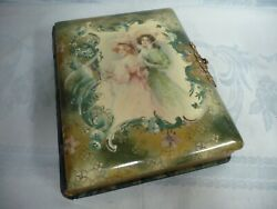 Lovely Victorian Celluloid Embossed And Cut Velvet Photo Album, Holds 42 Photos
