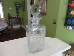 Marked Thomas Webb England Wet2 Discontinued Cut Crystal Decanter Bottle Nr