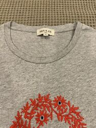 Paul And Joe Mens T-shirt With Floral Embroidery Design On Front. Never Worn.