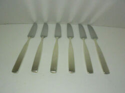 Lauffer Holland - Bedford Vintage Set Of Six Dinner Knives 8 And 1/8th Inches