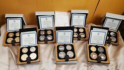 Canada 1976 5 And 10 Montreal Xxi Silver Olympic 28 Delux Coin Set - Boxes And Coa