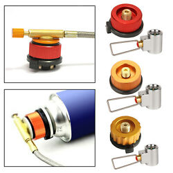 Camping Gas Stove Adapter Refill Gas Shifter Split Burner Outdoor Coupler