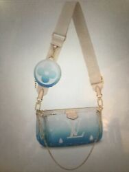 Limited Louis Vuitton Multi Pochette Blue Accessories By The Pool Collection