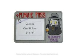 Vaccination Card Holder/protector - Plague Doctor
