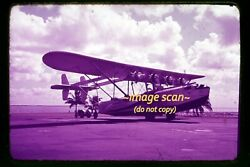 Pan Am Sikorsky S-40 Nc752v Flying Boat Aircraft In Late 1930s Orig. Slide H18a