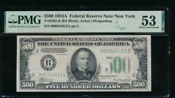 Ac 1934a 500 Five Hundred Dollar Bill New York Pmg 53 Comment