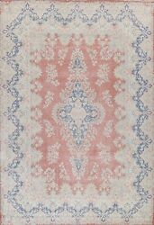Antique Distressed Floral Traditional Oriental Area Rug Hand-knotted Wool 10x13