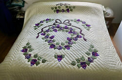 Amish Quilt For Sale Amish Applique Quilt Country Grapes Pattern Queen Quilt