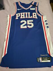 Nike Game Issued Used Worn Ben Simmons Jersey Gamer Philadelphia 76ers Sixers