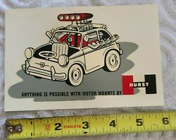 Rare 1960and039s Hurst Motor Mounts Waterslide Decal Speed Shop Blower Hot Rod Fiat