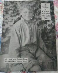 1920s Brochure Children's Village Boys Who Have Lost Their Way Dobbs Ferry, Ny