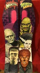 Nabisco Universal Monsters Promotional Supermarket Display Panels2 Pieces 1990s