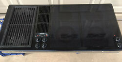 """Jenn Air 45"""" Downdraft Cooktop Designer Line 3 Bay Electric Glass With Grill"""