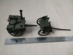 Rare Antique Ww1 Military German Metal Toy Field Kitchen Trailer Buggy Miniature