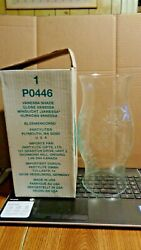 Partylite Vanessa Etched Hurricane Candle Glass Shade Globe Po446 Made In Usa