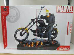 Used Gentle Giant Marvel Ghost Rider Statue Figure With Box And Serial Number