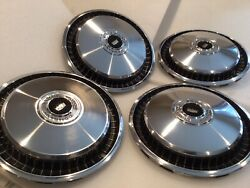 1971 1972 Ford Ltd Galaxie Country Squire 15 Hubcaps Original Oem Vintage