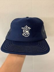 Vintage Smith And Wesson Trucker Mesh Hat Navy Blue Snapback Logo