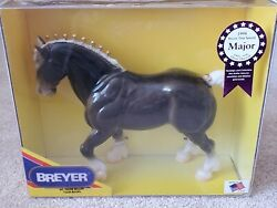 Breyer Vintage 1998 Tour Model Glossy Charcoal Clydesdale Stallion
