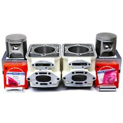 +.50mm Sea-doo 800 Carb Style Cylinders Platinum Pistons 1995-1999 6923212 White