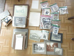 Antique Photo Lot Reed Family Rochester Ny Genealogy Cabinet Cards Snapshots Etc