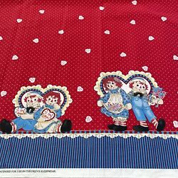 RARE Daisy Kingdom Raggedy Ann Hearts and Flowers Border for Springs 2yards