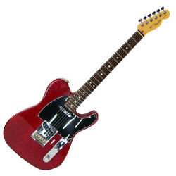 Electric Guitar Fender Usa American Std Red Right Handed 22f Rare Used