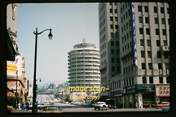 Hollywood Los Angeles Street Scene Tower Records In 1950s, Kodachrome Slide H18a