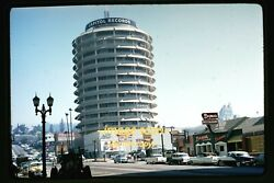 Capitol Records, Hollywood, Los Angeles In Mid 1950's, Kodachrome Slide H18b