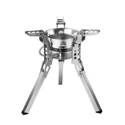 Outdoor Barbecue And Camping Gases Stoves High Furnaces Folding A7d6