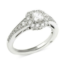 1 Ct Certified Diamond Princess Engagement Ring 18k White Gold Christmas Special