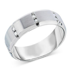 1/8 Cttw Men's Diamond Band In 14k White Gold Christmas Special