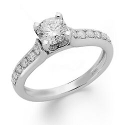 1 Ctw Round Diamond Engagement Ring In 14k White Gold Christmas Special