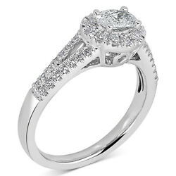 3/4 Ct Diamond East West Oval Engagement Ring 14k White Gold Christmas Special