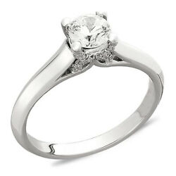 1/2 Ct Certified Diamond Engagement Ring 18k White Gold Christmas Special