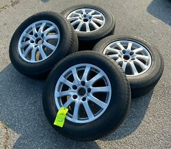 Set Of Four Used Oem Porsche Cayenne 17 Factory Takeoff Tires And Wheels 5x130