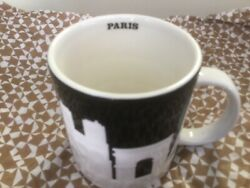 Starbucks Paris France Collector Mug New With Tag Relief City