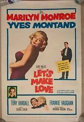 Lets Make Love 1960 Usa 1 Sheet Cinema Poster 27 X 41 Inches Linen Backed