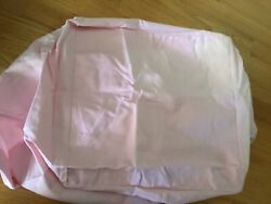Pottery Barn Kids Pink Square Chambray Basket Liner X Large Nwt
