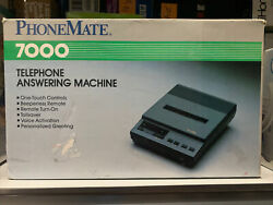 Phonemate 7000 Telephone Answering System New