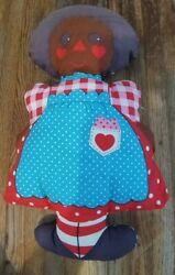 Vintage 17 Pillow Plush Doll Raggedy Anne Style Kit African American Cute 1960s