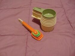 Vintage Tupperware Measuring Cups And Spoons Set Complete