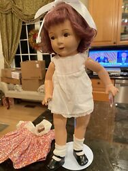 Jane Withers 19 Inch Composition Doll Rare Large Size Beautiful 1930's