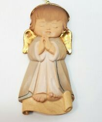 Lepi Woodcarvings Guardian Angel Painted In Italy Wall Plaque Hanging Ornament